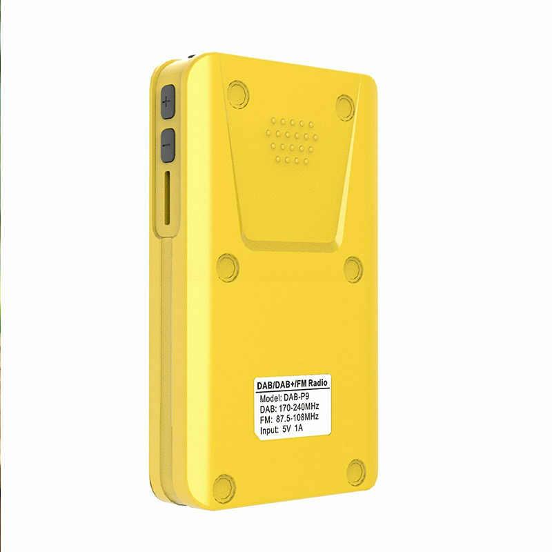 Radio Digital DAB de bolsillo portátil con función de reproductor MP3 batería recargable integrada para ofertas de senderismo JR