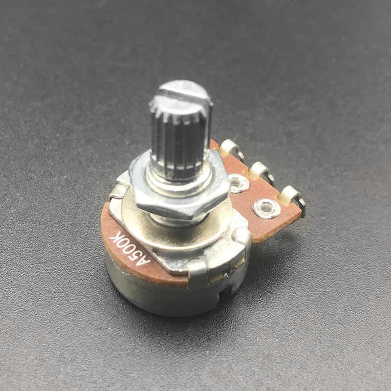 10pza Interruptor Del Potenciómetro Tono De Audio Guitarra Montones 15mm B500k