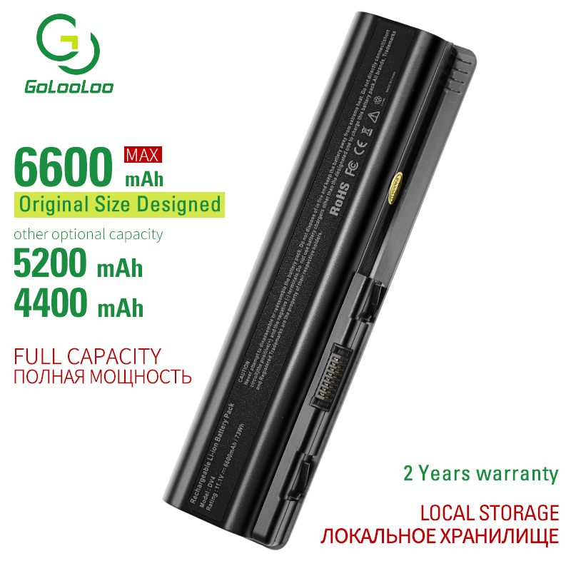 Golooloo 6 Cells Laptop Battery For Hp HSTNN-C51C C53C CB72 CB73 DB72 DB73 I58C IB72 IB73 IB79 LB72 LB73 N50C Q34C -Q36C Q37C