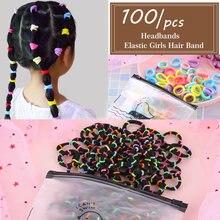 100 шт аксессуары для волос девочек веревка из хлопка эластичная