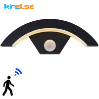 Induktion Im Freien Wasserdichte Gehweg Front Tür Lichter PIR Motion Sensor LED Wand Lampe Smart Detektor Veranda Korridor Leuchte