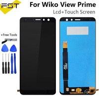 5.7 for for para wiko vista prime display lcd com tela de toque digitador do telefone móvel acessórios para wiko vista prime sensor tela lcd