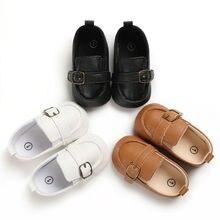 Мягкая кожаная детская обувь для новорожденных мальчиков и девочек; модная обувь для малышей; модная однотонная кожаная обувь для малышей