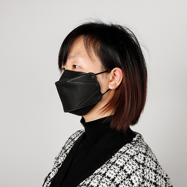 2 Pcs KF94 Non-woven Mask Disposable Masks Mouth Face Mask Anti-fog Filter Filtration Cotton Proof Flu Anti-Dust Protection 4