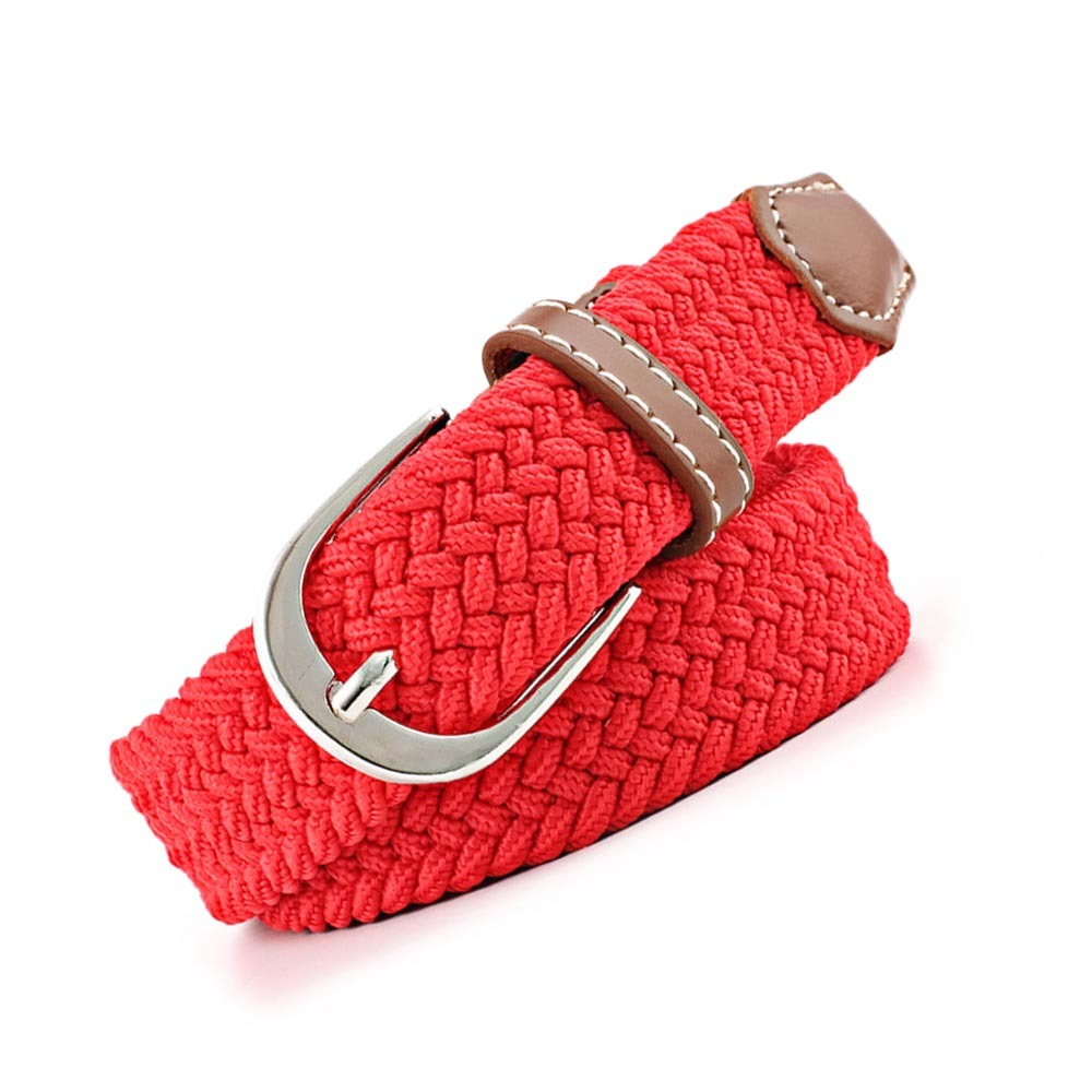 Waist Belt Women Elastic Waistband Canvas Buckle Braided Woven Waist Straps