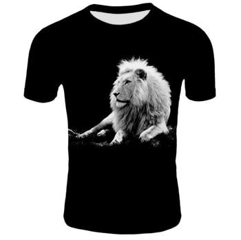 The new summer menswear T-shirt for men is 3D digital printed short-sleeved T-shirt