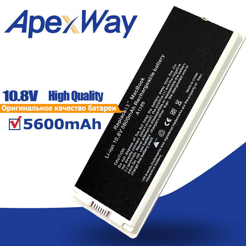 10.8V 55Wh Silver Laptop Battery A1185 MA561 MA561 MA566 For Apple Macbook 13