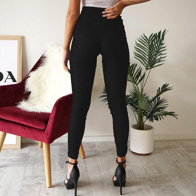 Gothic harajuku Grunge pants women zipper fold streetwear pencil casual Fashion pant black chic Summer long trousers Streetwear 20