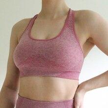 Nepoagym Women Vital bezszwowy sportowy biustonosz Push Up stanik sportowy biustonosz treningowy odzież sportowa dla kobiet Gym