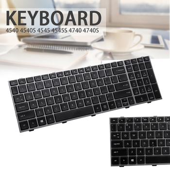 New US Silver Frame Keyboard Replacement Suitable For HP ProBook 4540 4540S 4545 4545S 4740S цена 2017