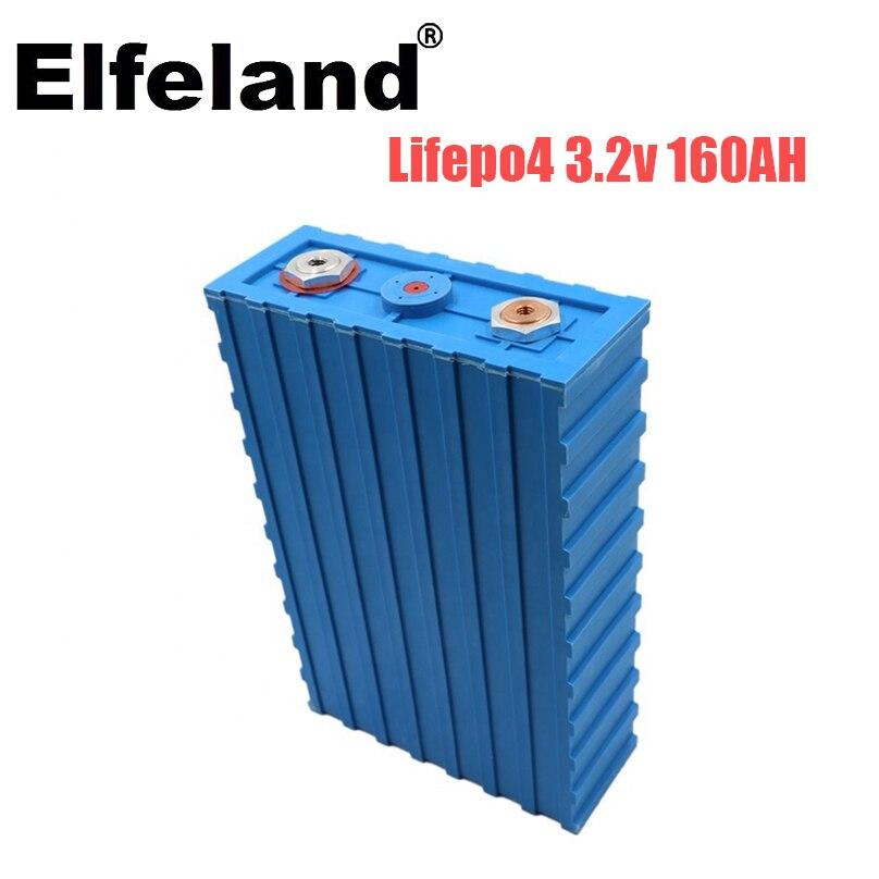 Elfeland 4PCS 3,2 V 160AH CALB lifepo4 batterie lithium-eisen phosphat batterie solar12V 24V 48V 200AH batterie pack EU duty-freies
