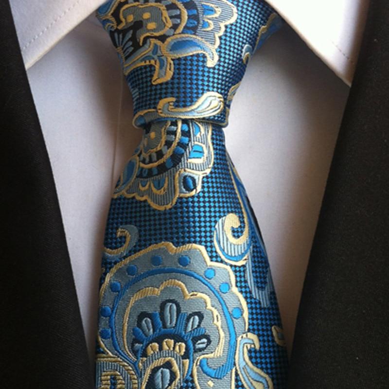 Men Jacquard Striped Plaid Paisley Flower Polyester Wedding Party Holiday Arrow Neck Tie 8cm Floral Silk Business Necktie Cravat