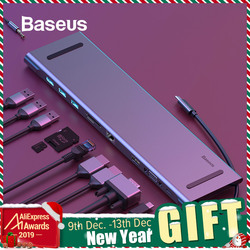 Baseus USB Typ C HUB zu 3,0 USB HDMI RJ45 USB HUB für MacBook Pro Zubehör USB Splitter Multi 11 ports Typ C HUB USB-C HUB