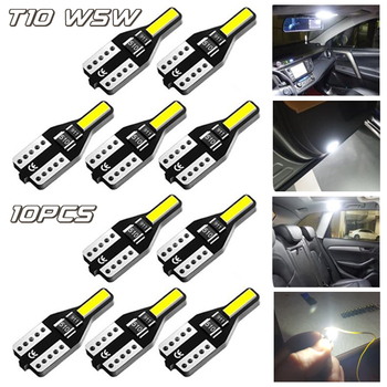 10pcs T10 W5W LED Canbus Car Lights 6000K For BMW E39 E34 E36 E46 E60 E90 F10 X3 Auto Reading Light Xenon 194 168 Interior Light image