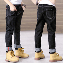 Toddler Boy Jeans Cotton Elastic Waist Denim Pants Legs Srping Boys Clothes 14 Years Casual Blue Jean Trousers for Teenage Boys