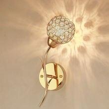 Горный Хрусталь Лист настенный светильник Гостиная фон домашний
