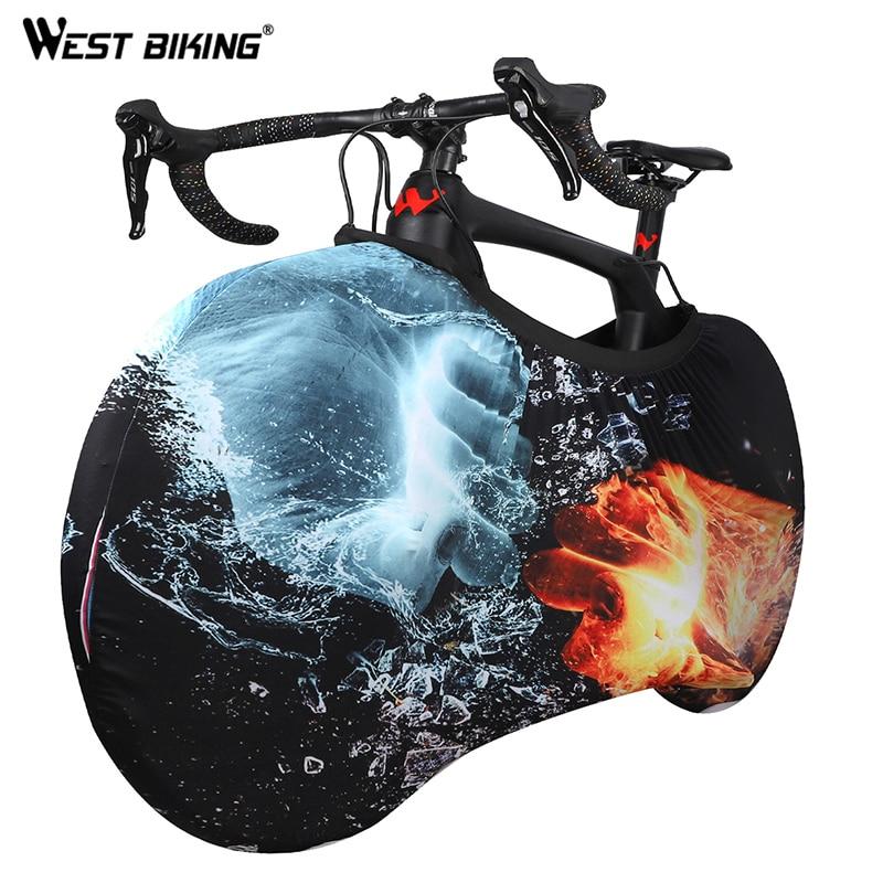 Spor ve Eğlence'ten Koruyucu Donanım'de Batı bisiklet bisiklet örtüsü evrensel bisiklet MTB bisiklet zinciri toz geçirmez çizilmeye dayanıklı saklama çantası bisiklet tekerleği koruyucu aksesuarları title=