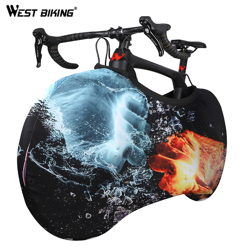 WEST BIKING Bike Cover Universal Cycling MTB Bike Chain Dust-Proof Scratch-proof Storage Bag Bicycle Wheel Protector Accessories