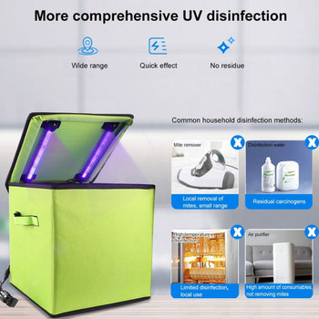 Portable UV Ozone Sanitizer Box Germicidal Sterilizer Bag LED Disinfection Cleaner for Mask Phone Gloves Bottle Toys