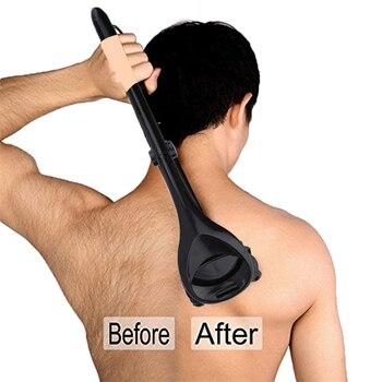 2019 novo voltar aparador de remoção do cabelo manual dobrável volta máquina de barbear do cabelo com duas lâminas de cabeça para o homem