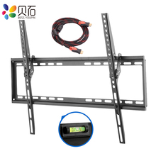 Tilt TV Wall Mount Bracket for Most 37 70inch LED LCD Plasma Flat Screen Low Profile Up To VESA 600 x 400 Includes HDMI Cable