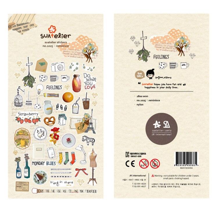 Home Furnishing Bullet Journal Cartoon Decorative Stationery Stickers Scrapbooking DIY Diary Album Stick Label