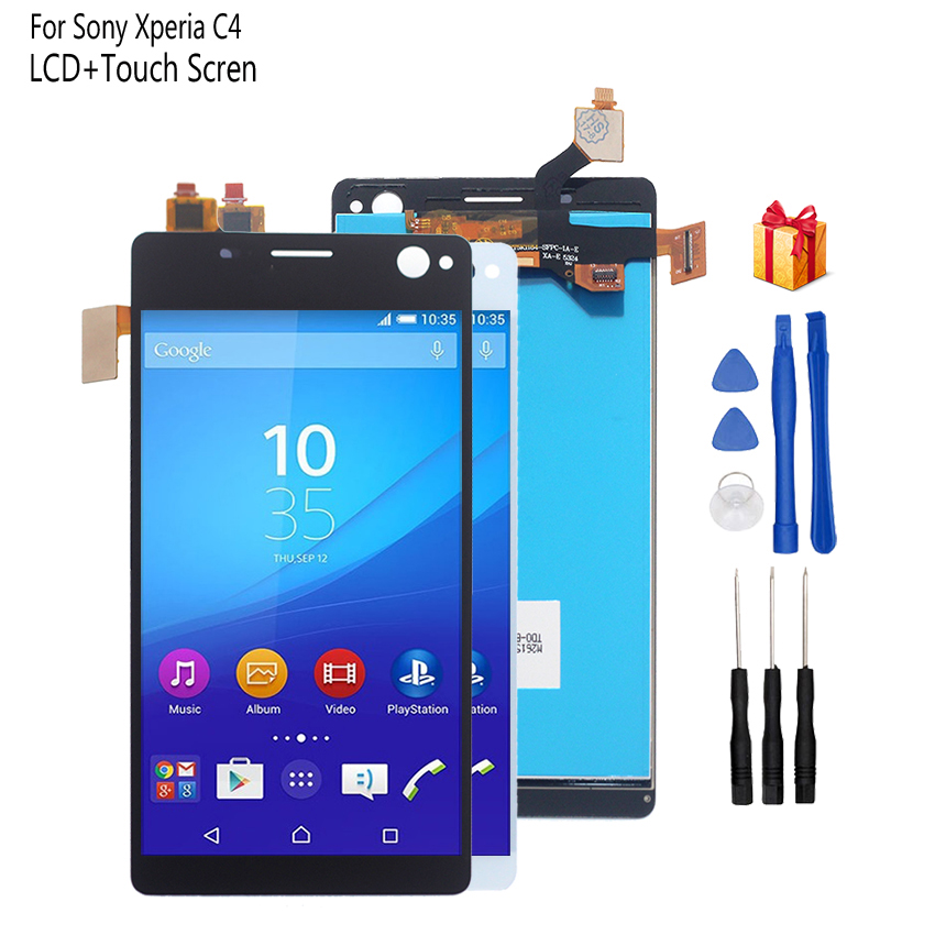Original For <font><b>Sony</b></font> <font><b>Xperia</b></font> C4 LCD Display Digitizer Assembly For <font><b>Sony</b></font> <font><b>Xperia</b></font> C4 E5303 E5306 <font><b>E5333</b></font> Display Screen LCD Phone Parts image