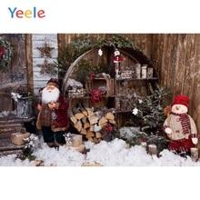 Yeele Weihnachten Baum Kiefer Zweig Baumwolle Runde Tür Baby Innen Fotografie Hintergründe Fotografische Hintergründe für Foto Studio