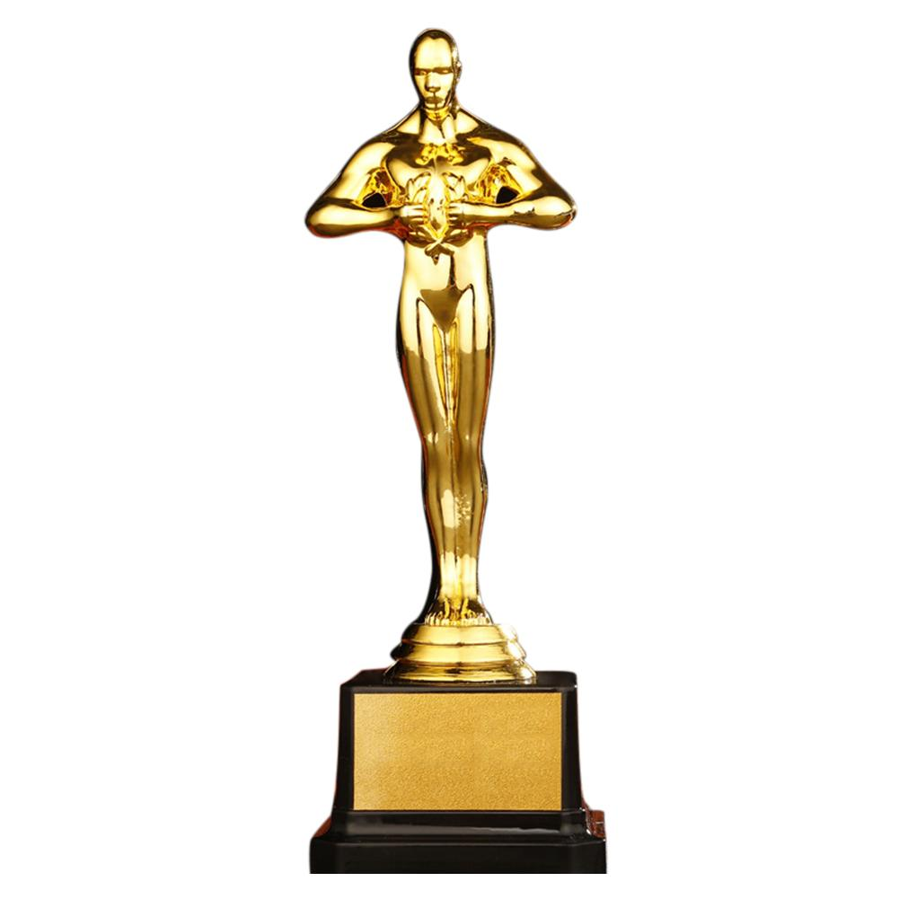 Personalized Oscar Trophy Gold Plated Small Gold Statue Team Sports Competition Crafts Souvenir Party Celebration Gift 24cm