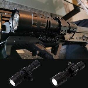 Image 2 - ضوء أبيض/أحمر LED مصباح يدوي التكتيكية الشعلة مصباح قابل للشحن قوية L2 الصيد ضوء 5 طرق مصباح يدوي الصيد نطاقات