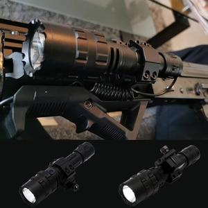 Image 2 - Linterna LED de luz blanca/roja, táctica, potente lámpara recargable, luz de caza L2, 5 modos, con miras de caza