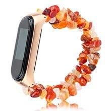Nouvelle arrivée bijoux Bracelet pour Xiaomi Mi Band 5 4 3 Bracelet de montre pour MIband5 pierre forme perles femmes Bracelet ceinture