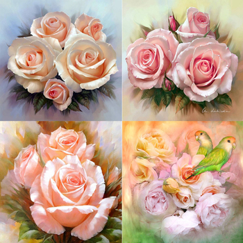 5D diy Rose peony round/square Diamond Painting Cross Stitch Diamond Embroidery kits Diamond Mosaic home Decorative drill image
