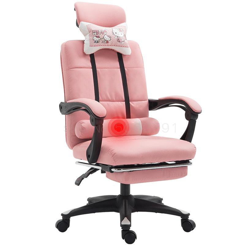 Simple Cute Pink Computer Desk Chair Yy Female Live Chair Special