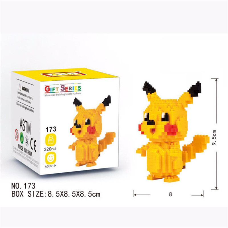 Pokemon Anime Figures Micro Building Blocks Assembling Model Creative Plastic Toys Educational Toys for Children Boxed New 2