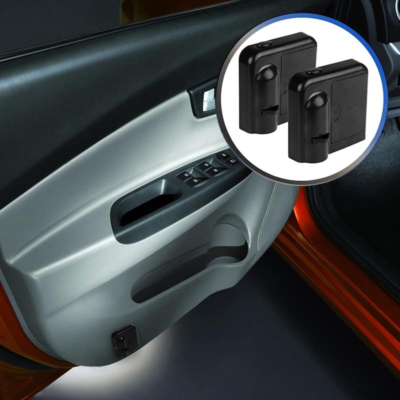 1 шт. Универсальный беспроводной дверной светильник с логотипом без дрели светодиодный лазерный фантомный проектор светильник для Ford Chevrolet ...