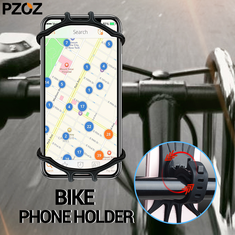 PZOZ Bike Phone Holder Bicycle Stand For IPhone Samsung Xiaomi Universal Mobile Phone GPS Stand Motorcycle Holder Accessories