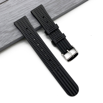 20mm 22mm Waffle Rubber Strap For Seiko Samsung Huawei Watch Sport Diving Waterproof Replace Silicone Strap Wrist Belt