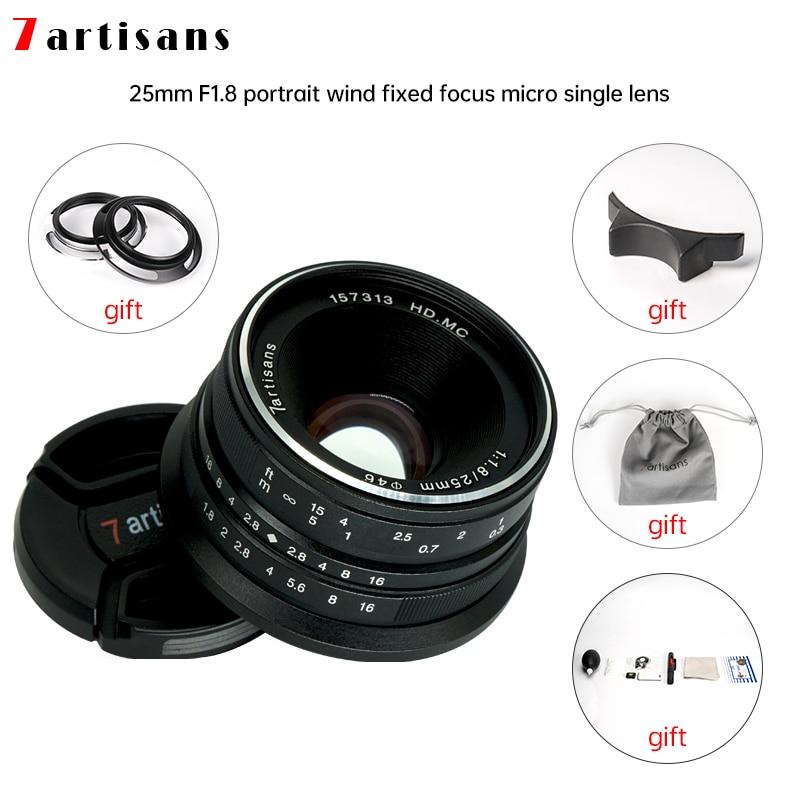 7artisans 25 мм F1.8 Prime, объектив для Sony E Mount /Fujifilm/Canon 4/3, MAT Micro, камеры A7 A7II A7R, бесплатная доставка
