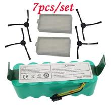 цена на 7pcs NI-MH 14.4V High quality Battery 3500mAh for panda X500 Battery for Ecovacs Mirror CR120 Vacuum cleaner for Dibea X500 X580