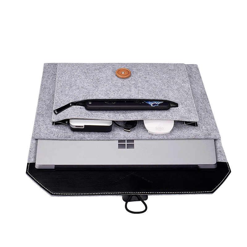 新しいソフトスリーブ Macbook の空気プロ網膜 11 12 13 14 15 インチのノート Pc タブレットケース hp 、デルマックブック