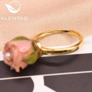 Image 5 - XlentAg 925 Sterling Silver Natural Pearl Adjustable Really Flower Ring For Women Daughter Gift Fine Jewellery Anillos GR0225