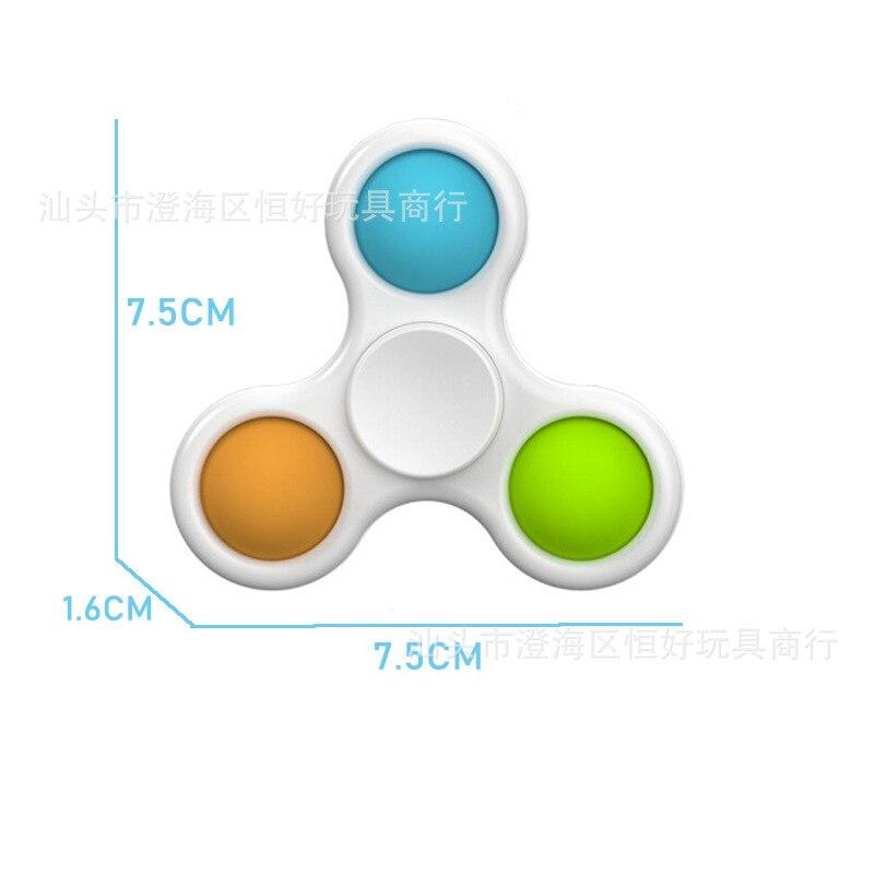 Push Pop Bubble Sensory Fidget Spinner Toy for Children Early Education Intelligence Development Training Anti Stress Finger Toy img4