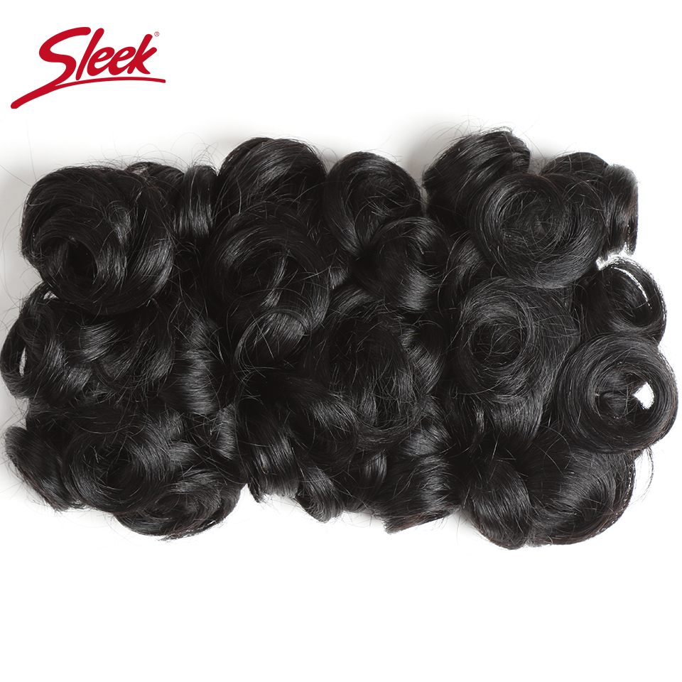 Sleek Hair Double Drawn Grade Brazilian Remy Curly Human Hair Narural Color 2# 4# Dark Brown Bundles Hair Extension