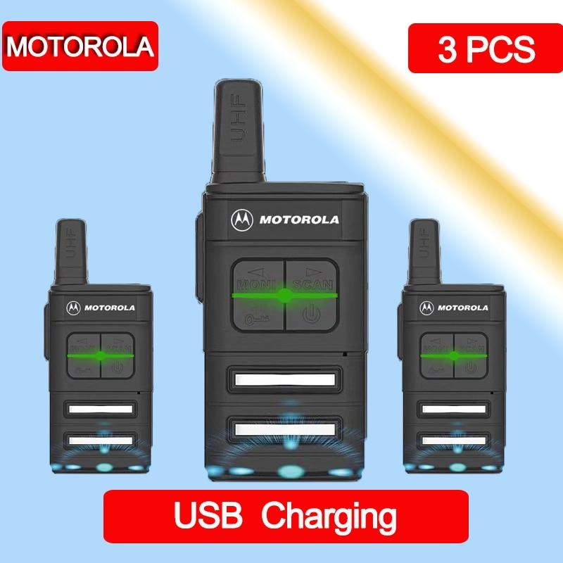 3 PCS MOTOLORA MINI Walkie Talkie Band Portable CB Ham Radio Station Amateur Police Scanner Radio Intercome Walkie-talkies