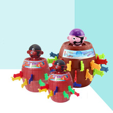 Pirate Bucket Sword Game 3D Puzzle Party Games Funny Toy Children Pirates Game Decompression Tricky Barrel Plug Girt For Kids