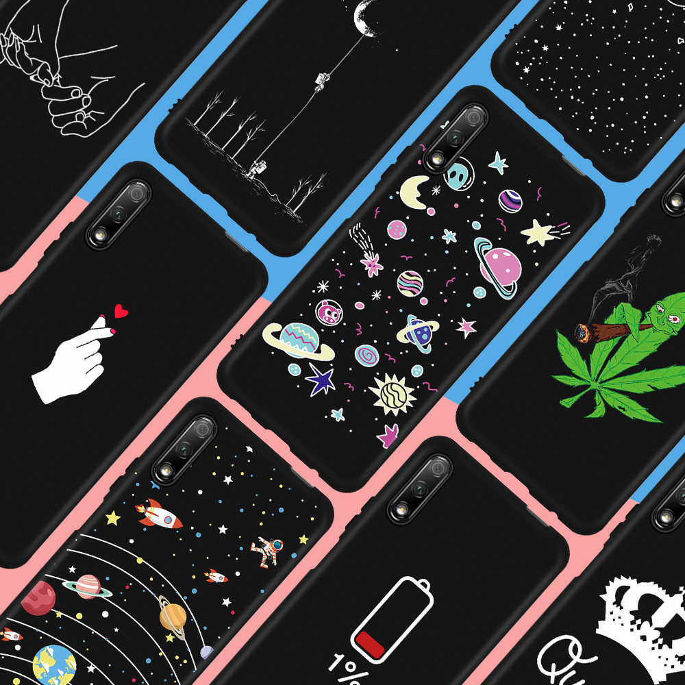 Cool Space Pattern Cover Case For Huawei Honor 9X 20 Pro 9 10 8 Lite 7X 8X 8S 8C V20 V9 Play 6C Pro 10i 20i Note 10 Magic 2 Capa(China)
