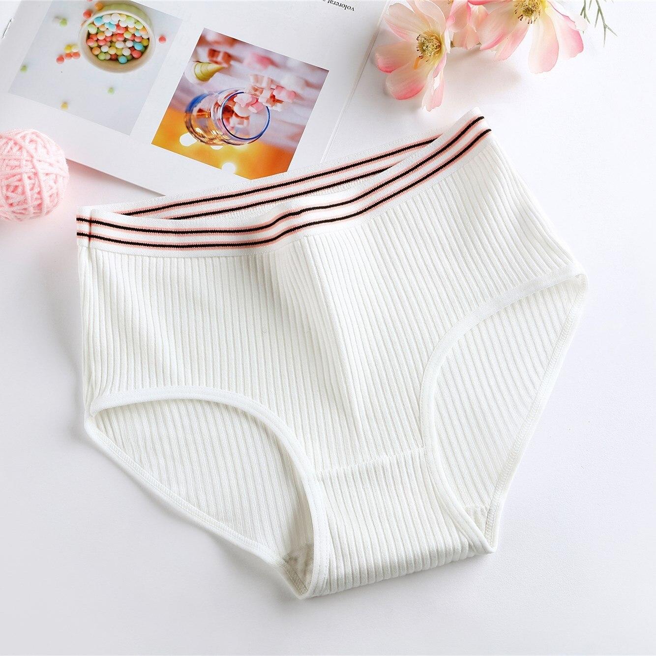 3 PCS Underwear Women Girls Panties Plus Size Briefs Sexy Panties Women Lingeries Calcinhas Shorts Underpants Solid Panty NEW