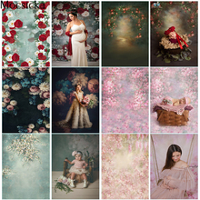 Photography Backdrop Retro Flowers Newborn Kids Photo Background Abstract Old Master Texture Floral Backdrop for Photography