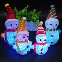 Рождественское украшение светящийся снеговик рождественские